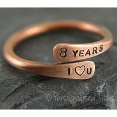 Personalized Bronze Ring | 8th Anniversary Gifts For Couples, Him, Her