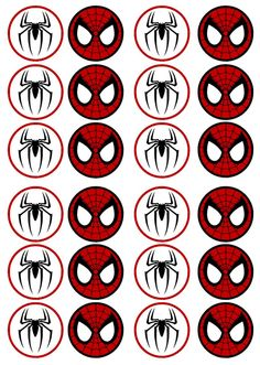 Resultado de imagen de free printable cupcake wrappers and toppers with spiderman Spiderman Cupcake Toppers, Cupcake Toppers Free, Cupcake Wrappers, Fête Spider Man, Spider Man Party, Spiderman Theme, Spiderman Birthday Ideas, Cake Spiderman, Superhero Birthday Party