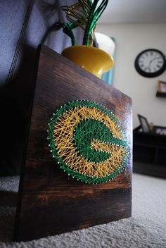 Green Bay Packers Stained by henriettabloomfield on Etsy, $35.00