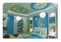 Cheap And Easy Cool Tips: False Ceiling Ideas Crown Moldings false ceiling ideas crown moldings.False Ceiling Home Modern false ceiling ideas drywall.False Ceiling Design For Porch. Green Bedroom Colors, Lime Green Bedrooms, Bedroom Color Schemes, Bedroom Paint Colors, Green And White Bedroom, Blue Bedrooms, Colour Schemes, Fitted Bedroom Furniture, Fitted Bedrooms