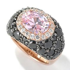 Dare to Rare™ Rose Gold Embraced™ 6.66 DEW Simulated Diamond East-West Dome Ring