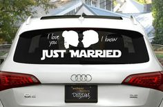 Just Married Star Wars Wedding Window Cling Decal – made by AnthonyHerreraDesign on Etsy https://www.etsy.com/listing/186255846/star-wars-just-married-wedding-vinyl?ref=sr_gallery_40&ga_search_query=star+wars+wedding&ga_ship_to=US&ga_search_type=handmade&ga_view_type=gallery