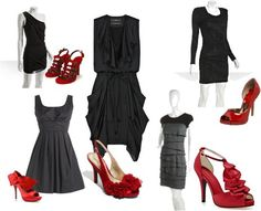 What every girl needs... A lil black dress and a pair of red heels <3