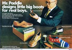 Paddle 1972 Shoe Ads, Vintage Shoes, Brogues, Rivers, Paddle, Dads, Logo Design, Boots, Fitness