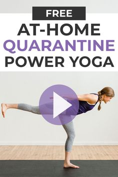 At Home Yoga Class Stuck at home? Sweat + tone with this free guided Yoga Sculpt Workout Video! All you need is your bodyweight and fifteen minutes! Yoga Training Videos, Bodyweight Strength Training, Workout Videos, Strength Workout, Workouts, Exercises, Bodyweight Fitness, Yoga Routine, Exercise Routines