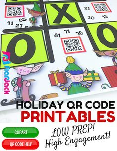 4th Grade Holiday QR Code Math Printables - Low Prep! Students will get lost in a land of learning fun while solving math problems in order to reveal a special message. There are 16 QR code worksheets, 6 math centers, and 14 blank writing sheets to accompany fun writing prompts found in the math worksheets. There is very minimal prep in preparing these resources. $