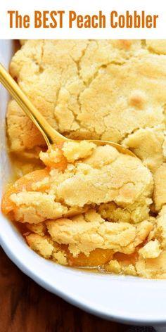 Good Peach Cobbler Recipe, Best Peach Cobbler, Homemade Peach Cobbler, Southern Peach Cobbler, Peach Cobbler Cake, Nectarine Cobbler, Peach Dessert Recipe, Simple Peach Cobbler, Easy Peach Dessert