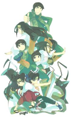 Tags: Fanart, NARUTO, Rock Lee, Pixiv, Hyuuga Neji, Tenten, Might Guy, Fanart From Pixiv, Team 9, Pixiv Id 16841197