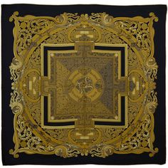 Magnificent Hermes Silk Scarf | From a collection of rare vintage scarves at https://www.1stdibs.com/fashion/accessories/scarves/