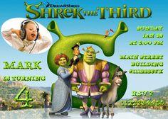 SALE 50 Shrek Birthday Invitation  Printable Shrek by vitalydi, $5.00
