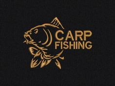 Carp Fishing Machine embroidery design - 2 sizes for instant download by MachinEMBroideryShop on Etsy