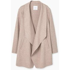 MANGO Lapels Wool Coat (2.330 ARS) ❤ liked on Polyvore featuring outerwear, coats, pink wool coat, lapels wool coat, pink coat, woolen coat and wool coat