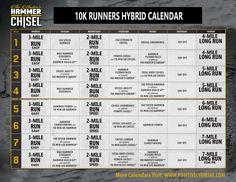 hammer  chisel  running hybrid training plan  running