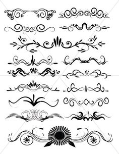 Scalabe Vector Graphics Divider Lines Fancy Swirls by TuiTrading