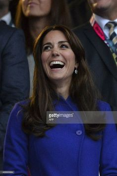 Britain's Catherine, Duchess of Cambridge, attends the opening ceremony of the 2015 Rugby World Cup at Twickenham stadium in south west London on September 18, 2015. AFP PHOTO / GLYN KIRKRESTRICTED TO EDITORIAL USE, NO USE IN LIVE MATCH TRACKING SERVICES, TO BE USED AS NON-SEQUENTIAL STILLS        (Photo credit should read GLYN KIRK/AFP/Getty Images)