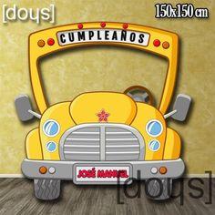 Photocall Autobús Escolar Infantil, ideal para #Cumpleaños lo puedes personalizar si quieres! ah! y con envío GRATIS!