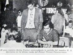 Bobby Fischer observant Miguel Quinteros