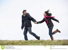 Photo about Couple Holding Hands And Running In The Park. Image of enjoying, clothing, holding - 7942029 Couple Poses Drawing, Couple Poses Reference, Drawing Poses, Couple Posing, Couple Shoot, Art Reference, Running Pose, Running Photos, Couple Running
