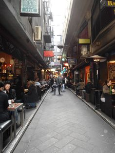 My favourite part of Melbourne: The small alley ways completely packed with cafes Melbourne Trip, Melbourne Laneways, Melbourne Australia, Melbourne Victoria, Victoria Australia, City Streets, Best Cities, Adventure Is Out There, Home And Away