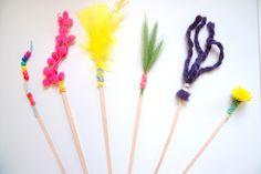 Babyplay - Homemade Tickle Sticks