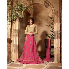 INDIAN RAG Pure Georgette+Net Semi Stitched Dress Material