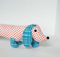 Childrens Stuffed Animal Plush Toy Wiener by FriendsOfSocktopus, $28.00