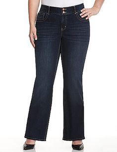 b1140b59fc034 Bootcut jean with T3 Tighter Tummy Technology provides a sexy