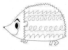 hedgehog trace worksheet | Crafts and Worksheets for Preschool,Toddler and Kindergarten