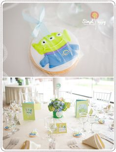 Baby Boy Christening Party Theme by Simply Happy - Green Martian