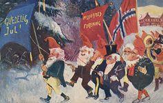 Christmas & New Year Scandinavian funnies  Photo: Nasjonalbiblioteket from Norway, Wikimedia Commons, Licence CC 2.0