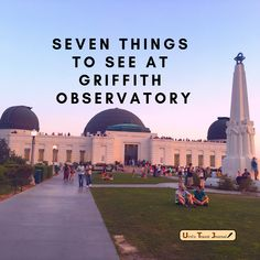 Seven things to see at Griffith Observatory. Besides breath taking views there are seven things to do inside Griffith Observatory to improve your knowledge Family Fun Places, Places To Go, Things To Do Inside, Weekend In Los Angeles, Shuttle Bus Service, Visit Los Angeles, Griffith Observatory, Griffith Park, Buy Tickets