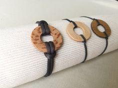 Mixed wooden and cord bracelets Cadeau Couple, Bracelets Fins, Creations, Towel, Boutique, Men, Etsy, Jewelry, Wood Slats