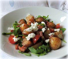 The English Kitchen: Bacon,Potato,Tomato & Rocket Salad
