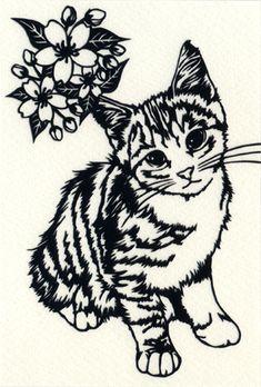 「切り 絵 猫」の画像検索結果