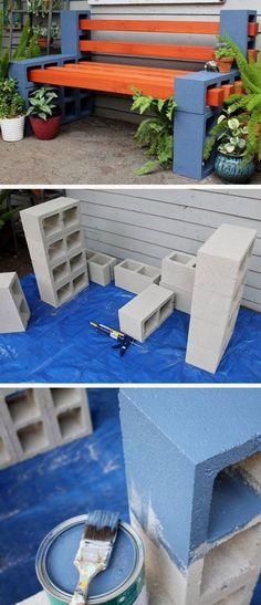 How To Make a Simple Outdoor Bench DIY Garden Projects Ideas Backyards DIY Garden Decoartions Budget Backyard by ollie