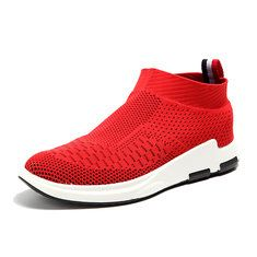 Fashion Men Knitted Strech Fabric Breathable Non-slip Slip On Casual Sneakers - NewChic Mobile
