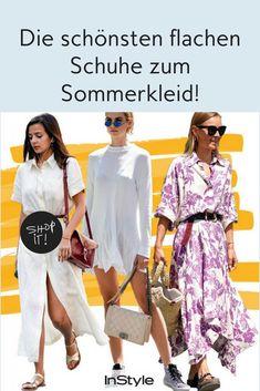 Für jede Gelegenheit: Die schönsten flachen Schuhe zum Sommerkleid Cooler Look, Office, Espadrilles, Kimono Top, Cover Up, Party, High, Iris, Dresses