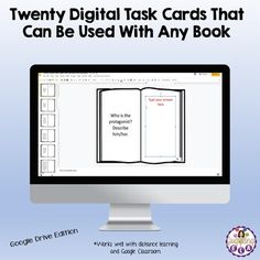 Many schools are going 1:1 and are trying to have paperless classrooms.Digital Task Cards are a great teaching tool that can be used in a variety of ways. You can: 1) Give different students different cards depending upon their level. 2) Give students a choice (Pick 16 out 20 prompts) There are 20 c...