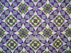 CELTIC SOLSTICE QUILT, Designed by Bonnie Hunter. Quilter inverted the chevrons in the center figures to make alternating stars and diamonds. Like!