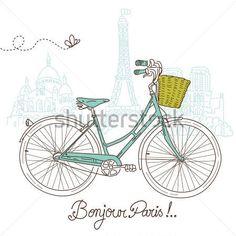 bicicleta antigua con cesta - Buscar con Google
