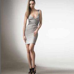 Herve Leger Grey Bandage Dress   http://www.luxuryindress.com/herve-leger-grey-bandage-dress-p-7976.html
