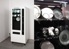 ANGER RELEASE MACHINE by Yarisal & Kublitz - vending machine with porcelain, crystal glasses, plates, statuettes, and various breakable items How To Release Anger, Bertrand, Fantastic Art, Awesome Art, Amazing, Bathroom Medicine Cabinet, Locker Storage, Innovation, It Works