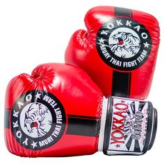 Boxing Gloves | Muay Thai Gloves | Official Fight Team Red/Black