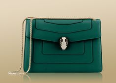 Bulgari 'Serpenti' shoulder bag with serpent head closure and snake body-shaped chain