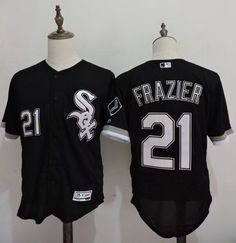 33f766c7f Men s Chicago White Sox  21 Todd Frazier Black 2016 Flexbase Majestic  Baseball Jersey