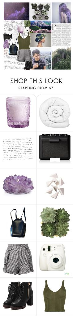 """""""using your black magic on me"""" by lucidmoon ❤ liked on Polyvore featuring H&M, Brinkhaus, NARS Cosmetics, Bobbi Brown Cosmetics, Louis Vuitton, Jayson Home, Sans Souci and Fujifilm"""