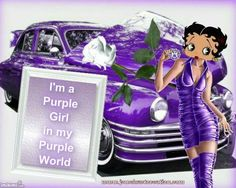 Betty Boop in purple how cute is this!!