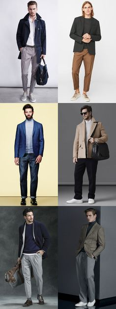 Men's Wide and Relaxed Leg Trousers/Chinos/Jeans Smart-Casual Outfit Inspiration Lookbook