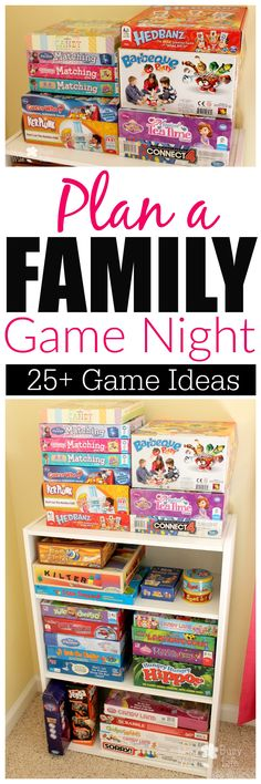 Plan a Family Game Night with 25+ Family Game Night Ideas