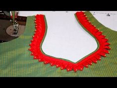 How to Cut and Stitch Banarasi Saree Blouse Design Latest Blouse Neck Designs, Churidhar Neck Designs, Saree Blouse Neck Designs, Simple Blouse Designs, Kurta Neck Design, Neckline Designs, Stylish Blouse Design, Dress Neck Designs, Bridal Blouse Designs
